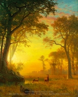 Light in the Forest painting reproduction, Albert Bierstadt
