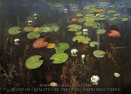 Lilies painting reproduction, Isaak Levitan