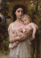Little Brother (Le jeune frere) painting reproduction, William Adolphe Bouguereau