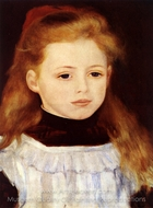 Little Girl in a White Apron (Lucie Berard) painting reproduction, Pierre-Auguste Renoir