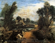 Lock on the Stour painting reproduction, John Constable