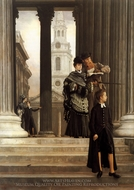 London Visitors painting reproduction, James Tissot