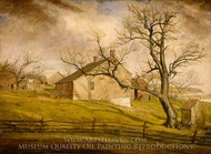 Long Island Farmhouses painting reproduction, William Sidney Mount