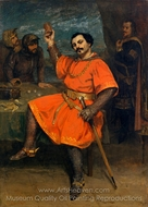 Louis Gueymard as Robert le Diable painting reproduction, Gustave Courbet