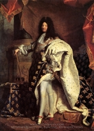 Louis XIV, King of France painting reproduction, Hyacinthe Rigaud