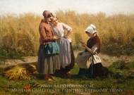 Love Tokens painting reproduction, Jules Breton