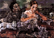 Lovers with Cat painting reproduction, Oskar Kokoschka