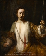 Lucretia painting reproduction, Rembrandt Van Rijn