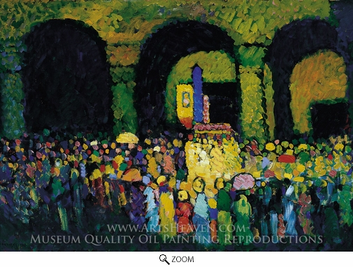 Wassily Kandinsky, Ludwigskirche Munchen oil painting reproduction