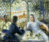 Lunch at the Restaurant Fournaise (The Rowers' Lunch) painting reproduction, Pierre-Auguste Renoir