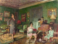 Madame Andre Wormser and Her Children painting reproduction, Édouard Vuillard