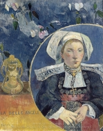 Madame Angele Satre, the Inn Keeper at Pont-Aven painting reproduction, Paul Gauguin