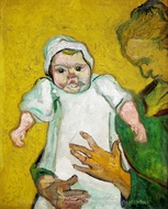 Madame Augustine Roulin with Baby painting reproduction, Vincent Van Gogh