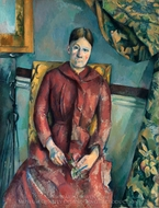 Madame Cezanne in the Yellow Chair painting reproduction, Paul Cezanne