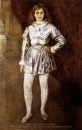 Madame Henriot in a Boy's Costume painting reproduction, Pierre-Auguste Renoir