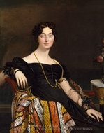 Madame Jacques-Louis Leblanc painting reproduction, Jean Auguste Dominique Ingres