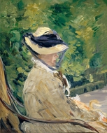 Madame Manet at Bellevue painting reproduction, Edouard Manet