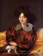 Madame Marie Marcotte painting reproduction, Jean Auguste Dominique Ingres