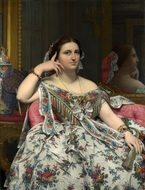 Madame Paul-Sigisbert Moitessier painting reproduction, Jean Auguste Dominique Ingres
