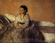 Madame Rene De Gas painting reproduction, Edgar Degas