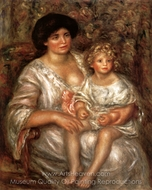 Madame Thurneyssen and her Daughter (Mother and Child) painting reproduction, Pierre-Auguste Renoir