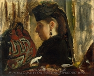 Mademoiselle Marie Dihau painting reproduction, Edgar Degas