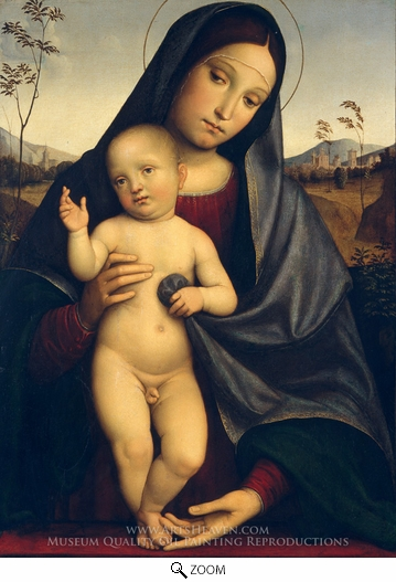 Francesco Francia, Madonna and Child oil painting reproduction