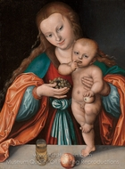 Madonna and Child painting reproduction, Lucas Cranach