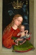 Madonna and Child in a Window painting reproduction, Martin Schongauer