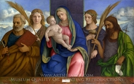 Madonna and Child with Saints painting reproduction, Giovanni Bellini