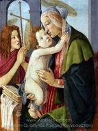 Madonna and Child with the Infant St. John painting reproduction, Sandro Botticelli