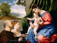 Madonna and Child with Two Donors painting reproduction, Lorenzo Lotto