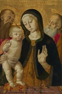 Madonna and Child with Two Hermit Saints painting reproduction, Bernardino Funga