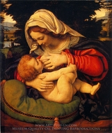 Madonna with the Green Cushion painting reproduction, Andrea Solario