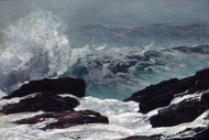Maine Coast painting reproduction, Winslow Homer