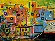 Maisons painting reproduction, Pablo Picasso (inspired by)
