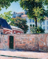 Maisons a Argenteuil painting reproduction, Gustave Caillebotte