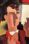 Man with a Red Kerchief painting reproduction, Roger De La Fresnaye