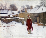 Mannikin in the Snow painting reproduction, John Singer Sargent