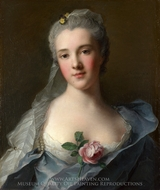 Manon Balletti painting reproduction, Jean Marc Nattier