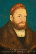 Margrave Casimir of Brandenburg-Kulmbach painting reproduction, Lucas Cranach
