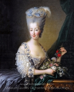 Maria Theresa of Savoy, countess of Artois painting reproduction, Francois-Hubert Drouais