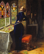Mariana in the Moated Grange painting reproduction, John Everett Millais