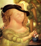 Marie Antoinette painting reproduction, Fernando Botero