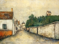 Marizy Sainte-Genevieve painting reproduction, Maurice Utrillo