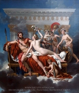 Mars desarme par Venus painting reproduction, Jacques-Louis David