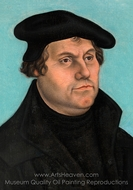 Martin Luther painting reproduction, Lucas Cranach