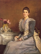 Mary Chamberlain painting reproduction, John Everett Millais