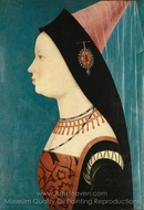 Mary of Burgundy painting reproduction, Hans Memling