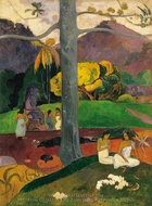 Mata Mua (In Olden Times) painting reproduction, Paul Gauguin